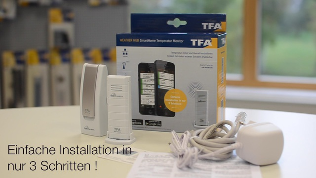 TFA - Weatherhub SmartHome Temperatur Monitor Video 2