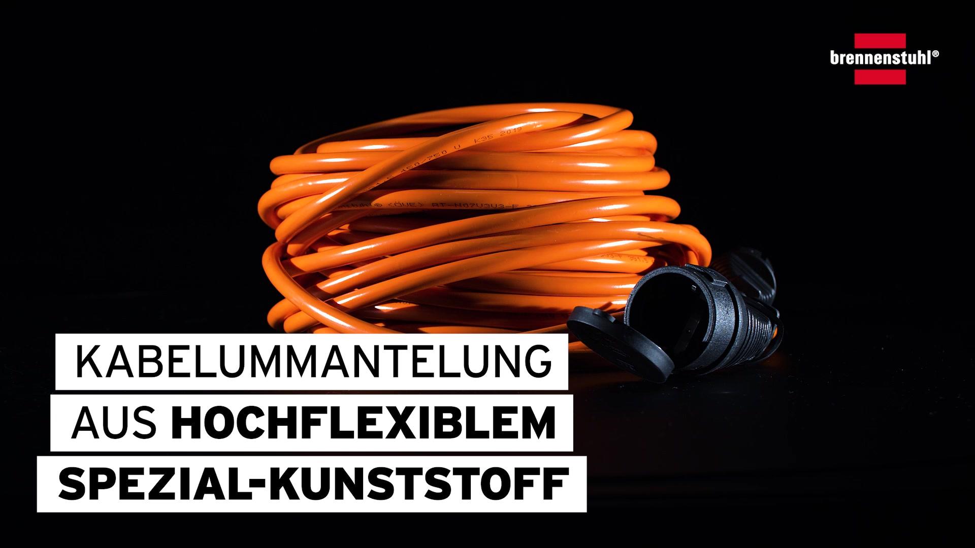 Kunststoff 25 m Brennenstuhl Verlängerungskabel Schuko rot