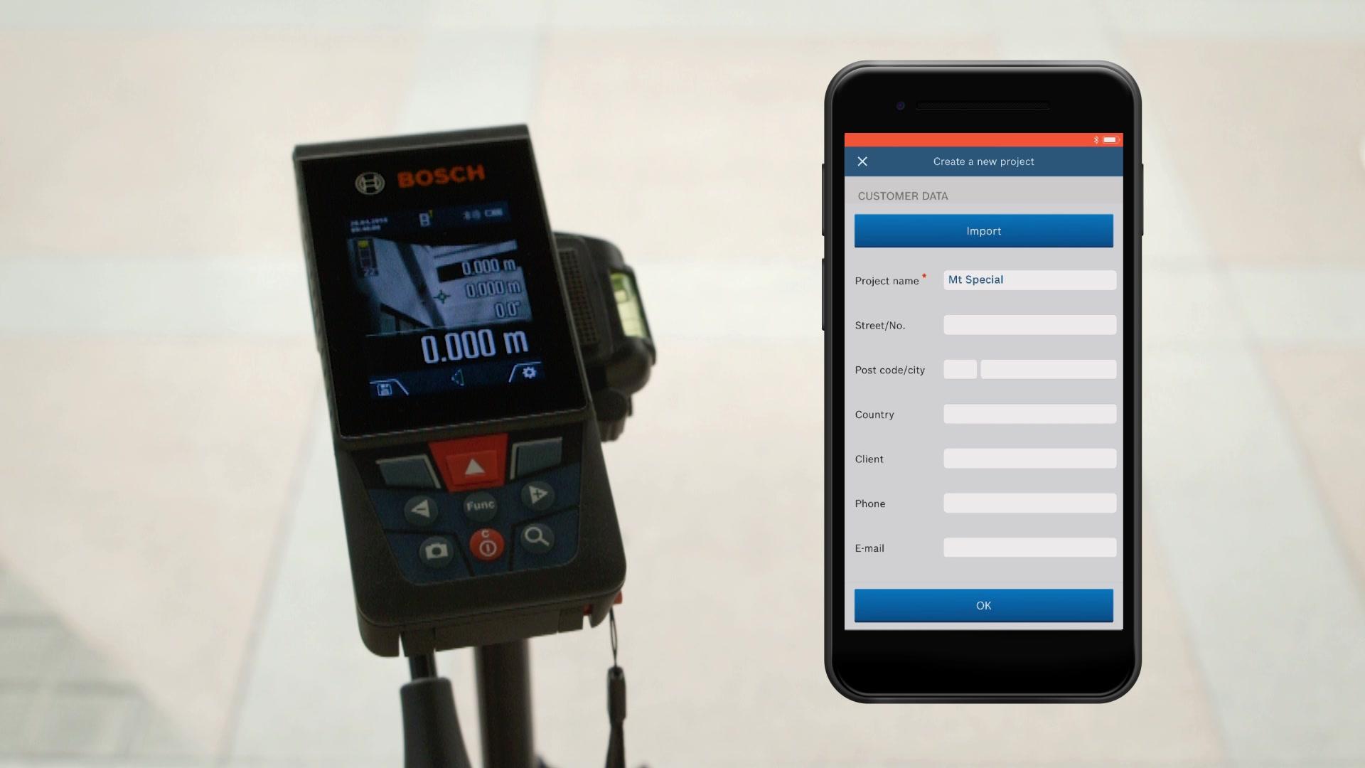 Bosch Entfernungsmesser Bedienungsanleitung : Glm 120 c laser entfernungsmesser bosch professional