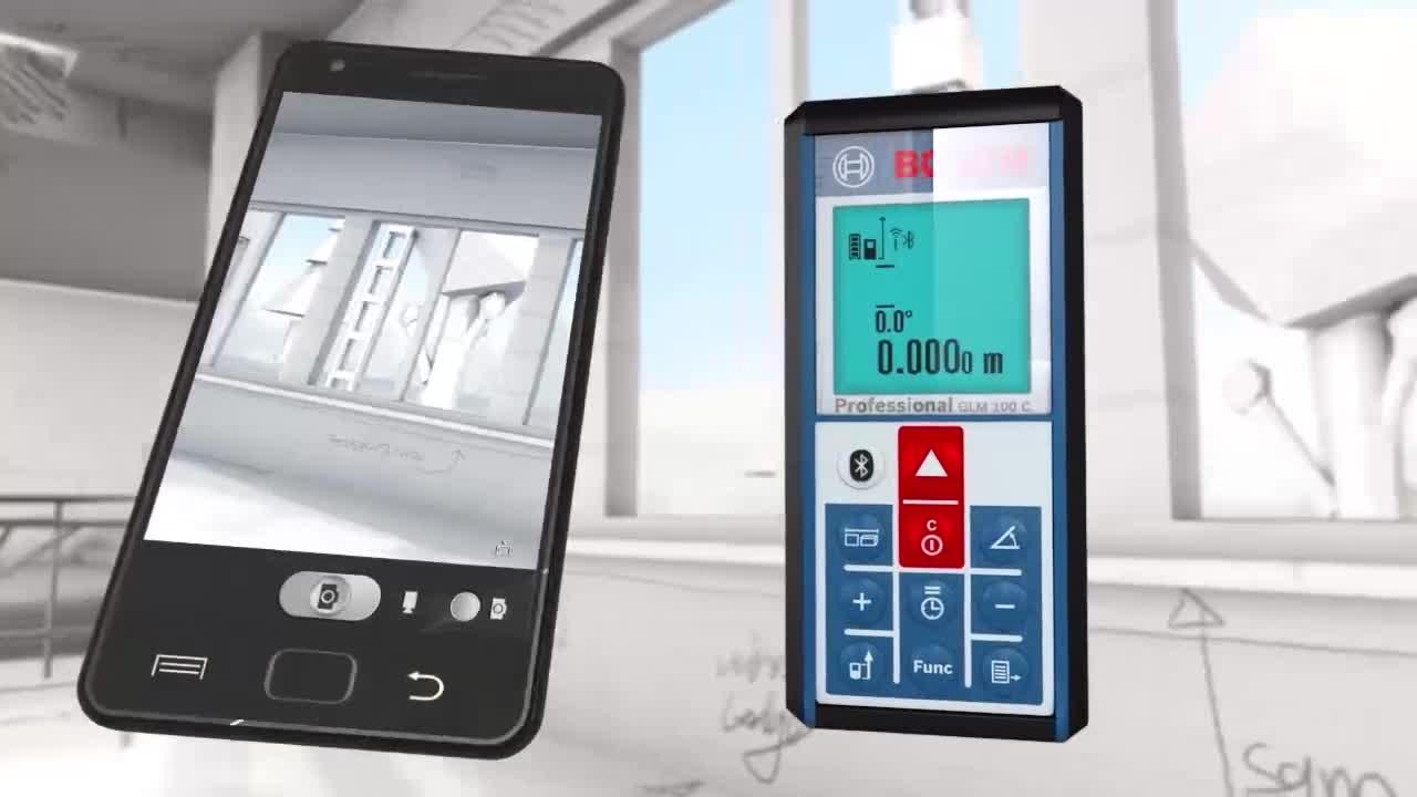 Bosch Entfernungsmesser Bluetooth : Glm 100 c laser entfernungsmesser bosch professional