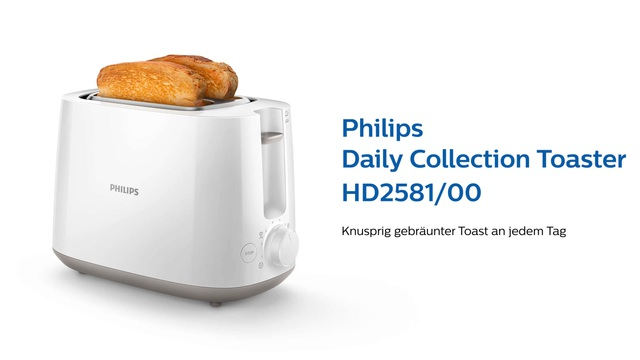 Philips Daily Collection Toaster HD2581/00 Video 3