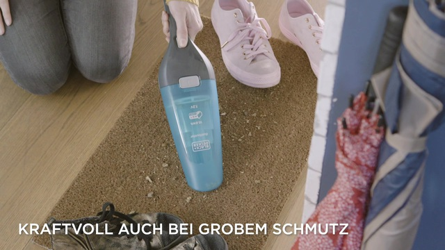 Black+Decker - 7.2V Nass-Trocken Dustbuster Video 3