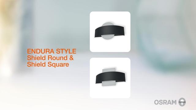 Acquista endura style shield round applique da esterni led