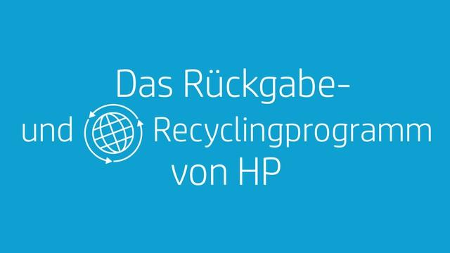 HP - Rückgabe- und Recyclingprogramm Video 10