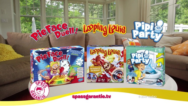 Hasbro Gaming - Spaß-Garantie mit Pipi-Party, Looping Louie und PieFace Duell! Video 3