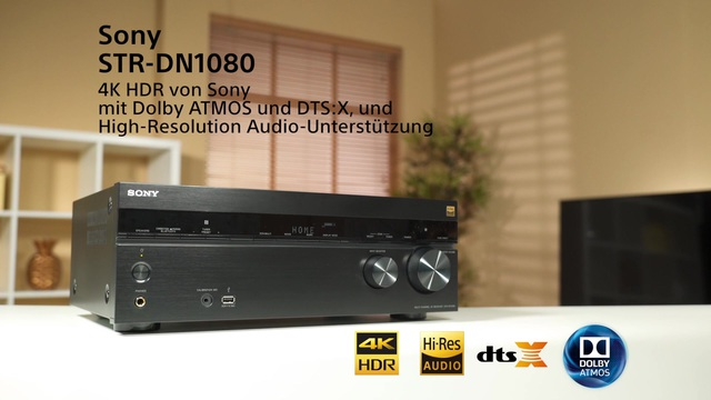 Sony - STR-DN1080 4K HDR AV-Receiver Video 3