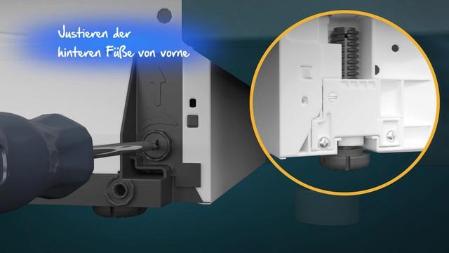 Beko - Installation Einbau-Geschirrspüler Video 3
