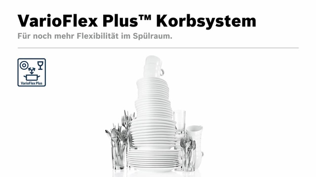 Bosch - VarioFlex Plus Korbsystem Video 15